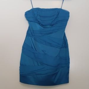 Unique electric blue strapless Kenzie dress